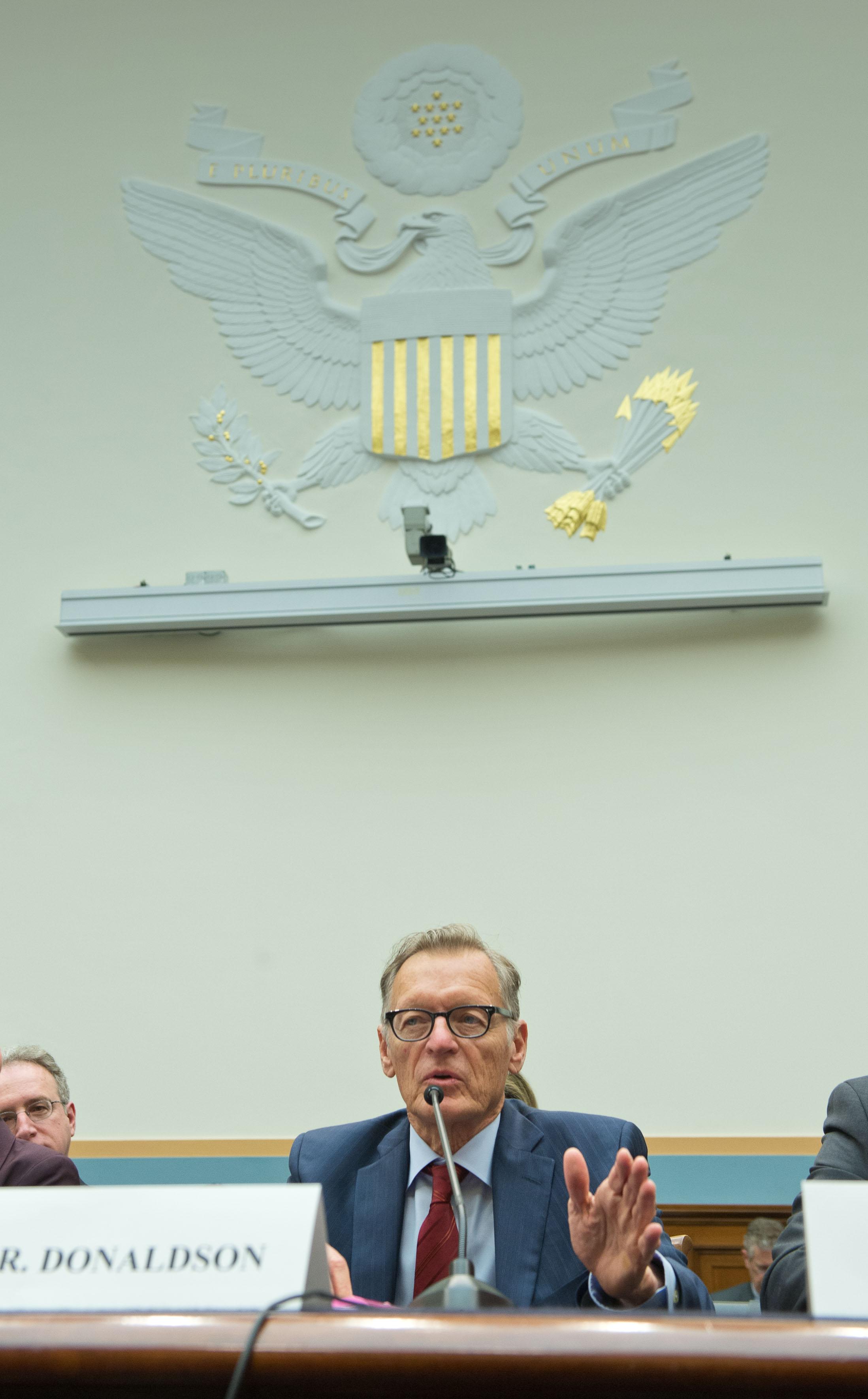 Michael C. Donaldson testifies before Congress, April 2, 2014.